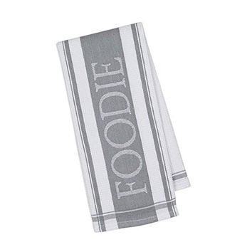 Foodie Jacquard Kitchen Dish Towel - 18-in x 28-in (Grey)
