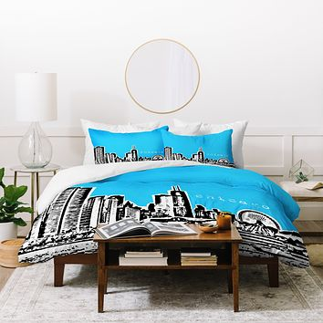 Bird Ave Chicago Blue Duvet Cover