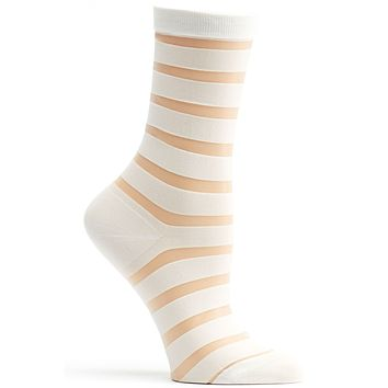 Sheer Stripe Sock