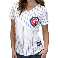 Majestic Chicago Cubs Ladies White Replica Baseball Jersey