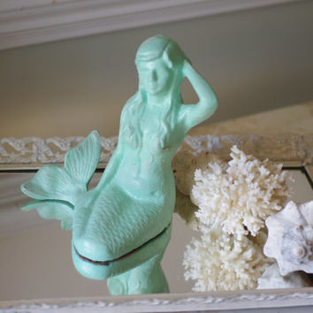 Beach Decor Cast Iron Mermaid  - PICK YOUR COLOR