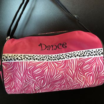 """Sassi Girl's Pink Dance Bag with """"Dance"""" on Front"""