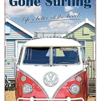 VW Surfer Van Wall Art