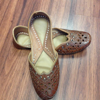 Pure Leather juti with Cut Work