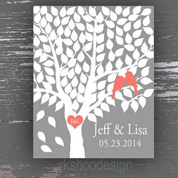 Guest Book Tree,Signature Tree,Love Bird Tree,Wedding Tree,Guestbook,Wedding Guestbook,Wedding Poster,Alternative Poster,Wedding Keepsake