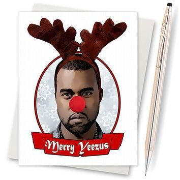 Kanye West - Yeezus - Funny Christmas Card - Illustration - Card For Wife - Card For H