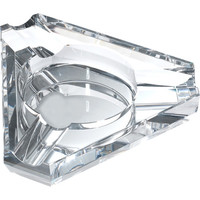 Jupiter Triangular Three Cigar Lip Crystal Ashtray
