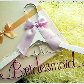 Custom Wedding Hanger, Wedding dress Hanger, Single Line Wire Name Hanger, Personalized Bridal Hanger, Bridesmaids Name Hanger