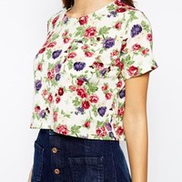Glamorous Cropped T-Shirt in Floral Print