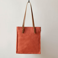 FUTURE GLORY CO. PRESIDIO CANVAS TOTE IN ORANGE TERRACOTTA