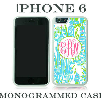 Monogram iPhone 6 Tough Case Personalized Phone Case iPhone 6 Plus Lilly Pulitzer Inspired Monogrammed iPhone 6 Case, Iphone 6 Case #2202