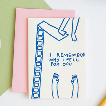 I Remember Why I Fell for You Card by People I've Loved for Of a Kind
