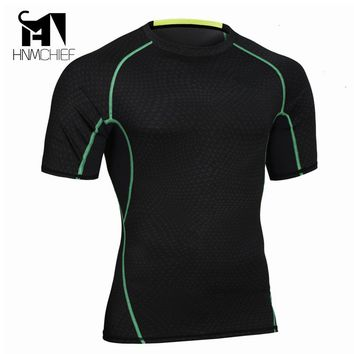 HNMCHIEF Undershirts Fashion Brand Men Sexy Bodysuit Undershirt Man Slim Fit Underwear Spandex Transparent Compression T-Shirt