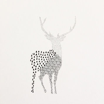 Geometric Deer Illustration
