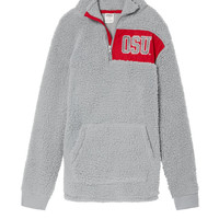 The Ohio State University Bling Sherpa Half-Zip - PINK - Victoria's Secret