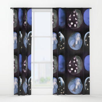 blue space rocks Window Curtains by mariannatankelevich