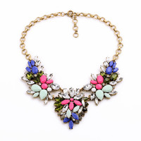 Mixed Cluster Flower Necklace
