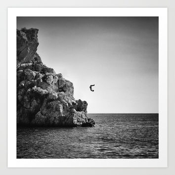 Jumping... Art Print by Guido Montañés