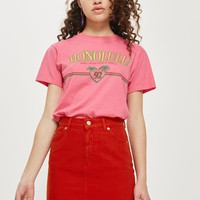 MOTO Tomato Denim Skirt