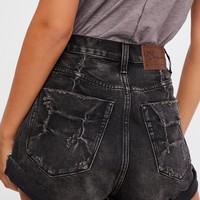 Free People High-Rise Bandit Denim Shorts
