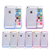 Phone Cases For iPhone 5 5s SE Cover Transparent Gradient Color Design TPU Silicon Covers 4 inch Phone Accessories Coque Capa