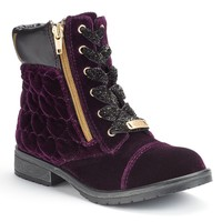 Juicy Couture Girls' Quilted Ankle Boots (Purple)