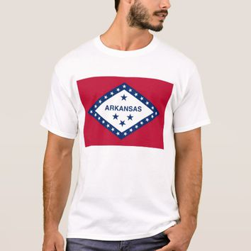 T Shirt with Flag of Arkansas State USA