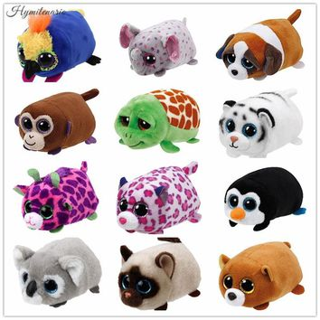 Ty Beanie Boos TY Teeny Tys Big Eyes 10CM Elephant Dragon Plush Toy Doll Kawaii Stuffed Animals CollectionChildren's Gifts