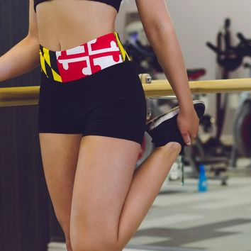 Maryland Flag Waist Band / Stretch Shorts