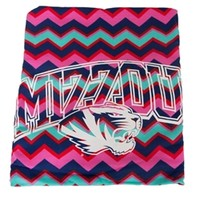 Mizzou Tiger Head Jazz Berry Blanket