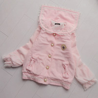 4 colors sweet lace pearl woolen jacket sailor coat free shipping from HIMI'Store