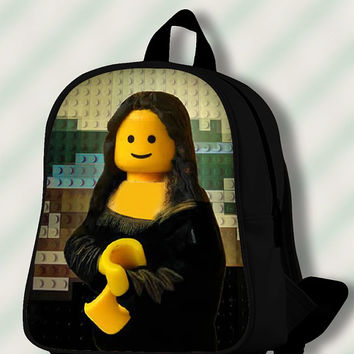 Lego  Mona Lisa - Custom SchoolBags/Backpack for Kids.