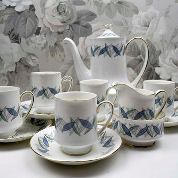 Vintage Royal Standard Fine Bone China Made in England 'Trend' pattern Coffee Set