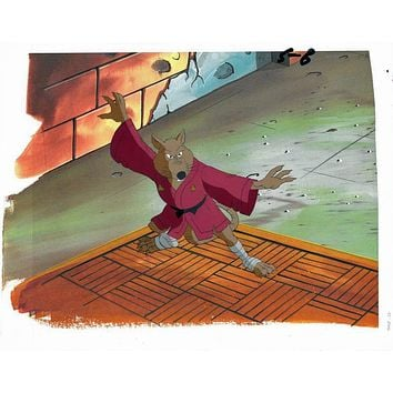 Teenage Mutant Ninja Turtles - Hand Painted Production Animation Cel with a Full Color Background by Murakami-Wolf-Swenson Studios