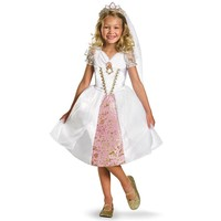 Disney Tangled Rapunzel Wedding Gown Costume - Kids (White)