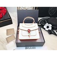 Bvlgari Trending Women Stylish Shopping Leather Metal Chain Crossbody Satchel Shoulder Bag Handbag I-BCZ(CJZX)