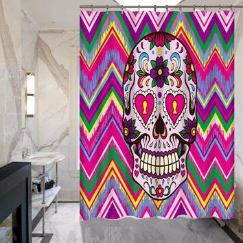 Skull Series Of Shower Curtain - Does Not Fade - Polyester - Waterproof - Various styles