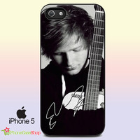 Ed Sheeran With Guitar iPhone Case And Samsung Galaxy Case