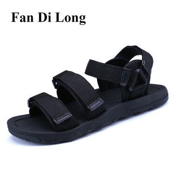 Summer Beach Sandals Men Fashion Strap Sandals Outdoor Slippers Shoes Men Black zapatillas hombre,free shipping