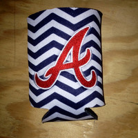 12 oz. can Atlanta Braves Embroidered Koozie