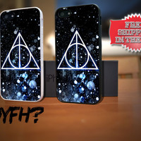 Harry Potter Deathly Hallows Night Snow iPhone 5 Case Plastic Rubber Case