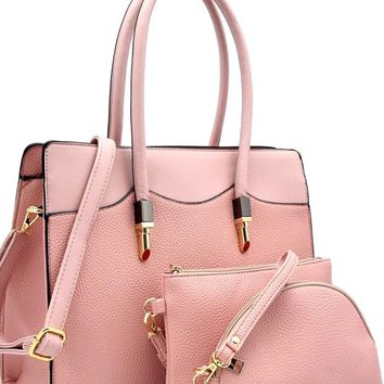 In The Pink Handbag Purse 3 pc Set