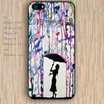 iPhone 6 case watercolor rain iphone case,ipod case,samsung galaxy case available plastic rubber case waterproof B144