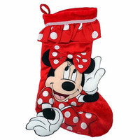 "disney parks 20"" christmas holiday stocking minnie mouse icons new with tag"