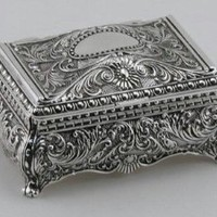 Amazon.com: ORNATE RECTANGULAR BOX - ORNATE RECTANGULAR BOX, SILVER PLATED.: Home & Kitchen