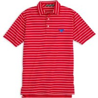 Southern Methodist University Bookstore - Southern Tide Striped Gameday Driver Polo