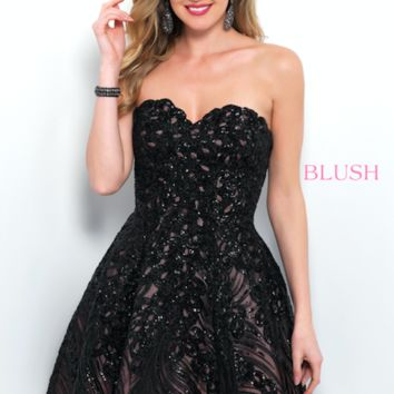 Blush 11366 Strapless A Line Dress With Sweetheart Neckline