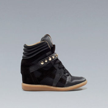 STUDDED SNEAKER - Wedges - Shoes - Woman - ZARA United Kingdom