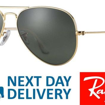Ray-Ban Sunglasses Aviator 3025 L0205 Gold Green G-15 Medium 58mm