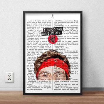 5SOS Ashton Irwin Head, (Instant Download) , 300 dpi, Awesome Design Printing